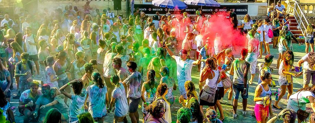 Holi Kleur Partij