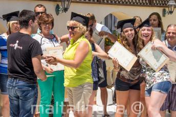 Aan het einde van de cursus Engels in Malta ontvangen de studenten een certificaat