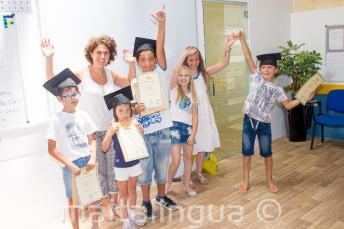 Kids met hun certificaat