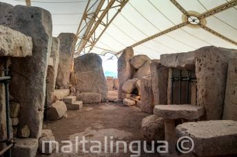 De prehistorische Hagar Qim Temples op