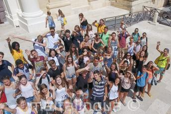 Groep studenten in Valletta