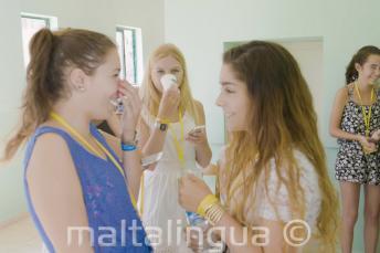 Studenten Engels aan de praat