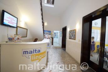 Malta Engels talenschool receptie
