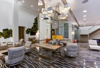 Lobby en zithoek van het Hotel Valentina, St Julians