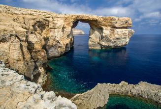 Uitzicht op de Azure Window on Gozo