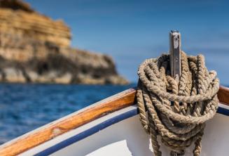 De boeg van een traditionele Maltese boot.