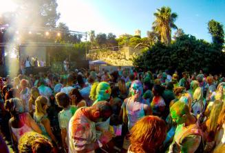 Holi kleur partij in Malta
