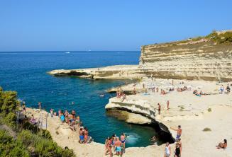Vista van St Peters Pool, Malta